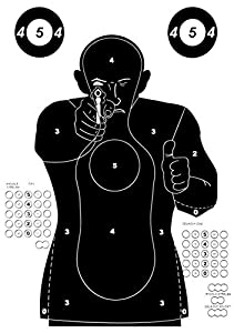 Große Airsoft Zielscheiben / Mannscheibe  Police Training  - 10 Stück