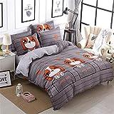 SHADEHAO Home Textile Cool Panda Bedding Set Kid Teen Adult Boy Girls Bed Linen Duvet Cover Pillowcase Bed Sheet King Queen Twin 2 Twin 3Pcs