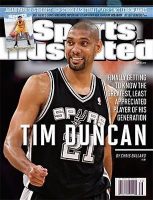 2012 Tim Duncan San Antonio Spurs No Label Sports Illustrated Regional Issue by Headline Sports