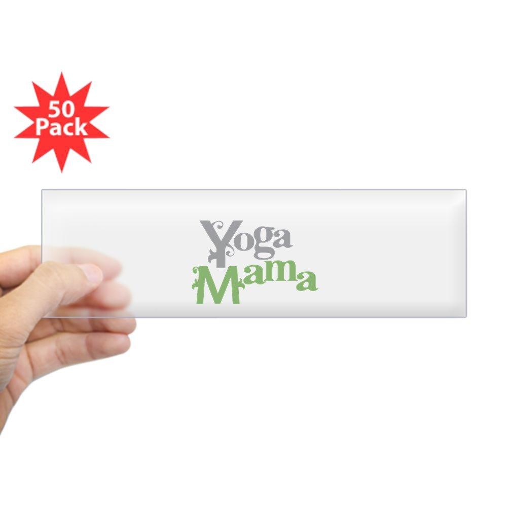 Amazon.com: CafePress - Yoga Mama Bumper Sticker (50 Pk ...