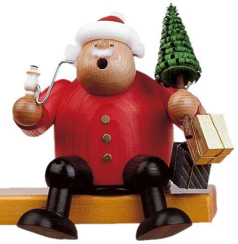 KWO Sitting Santa German Christmas Incense Smoker Handcrafted Erzgebirge ()