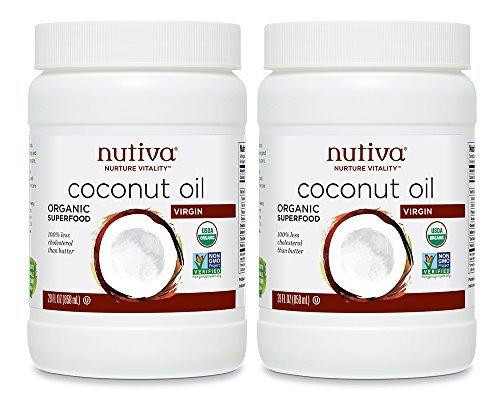 Nutiva 858ml Organic Extra Virgin Coconut Oil - by Nutiva