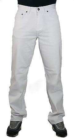Peviani Jeans Color Blanco Para Hombre Comodidad G Fit Tipo Straight Fit Pantalones Urban Star Wash De Mezclilla De Algodon Amazon Es Ropa Y Accesorios