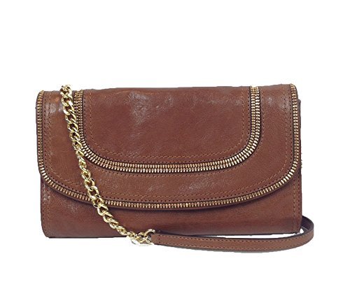 Michael Kors Naomi Leather Convertible Clutch, Walnut