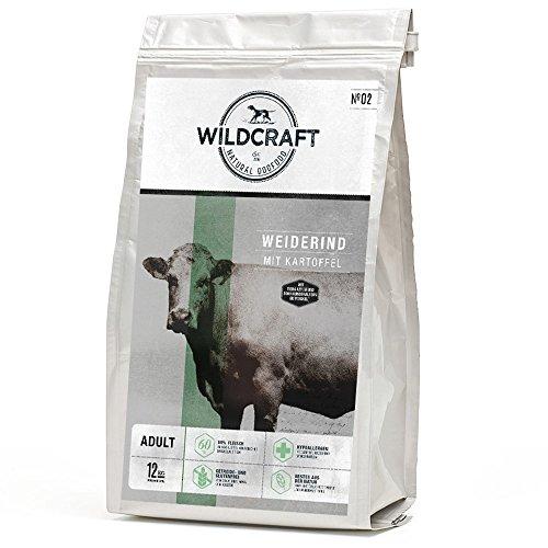 Wildcraft | Weiderind mit Kartoffel | 1 kg | getreidefreies Hundefutter | hoher Fleischanteil, frisch, gut verträglich | Trockenfutter für gesund glänzendes Fell | Monoprotein, bestens für Allergiker