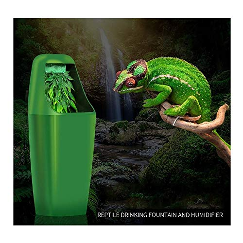 Reptile Drinking fountain automatic system Circulation water dispenser green water tank Lizard tortoise chameleon pet simulation rainforest