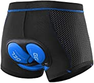 Oweisong Men 3D Padded Cycling Shorts Bicycle Biking Underwear Shorts MTB Breathable Quick Dry Pants for Mount