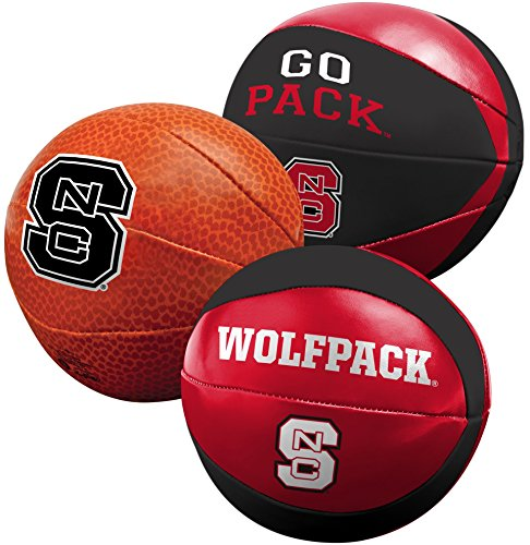 NCAA North Carolina State Wolfpack Three Ball Softee Basketball Set, 4