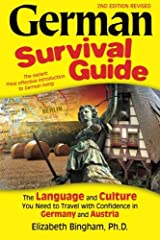 """This book provides a lot of vocabulary, basic grammar instruction, and a healthy dose of cultural information. """"Look inside the book"""" to see just how much is covered and how. German Survival Guide is a down-to-earth, bare-bones introduction t..."""