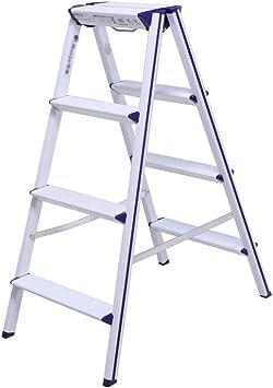 Taburete Plegable Escalera 4 Peldaños, Escalera Plegable De Aluminio Para El Hogar, Cerradura De Junta De Diseño Fácil De Usar, Pedal Triangular, Cubierta Antideslizante Para Pies, Capacidad De Carga: Amazon.es: Bricolaje y