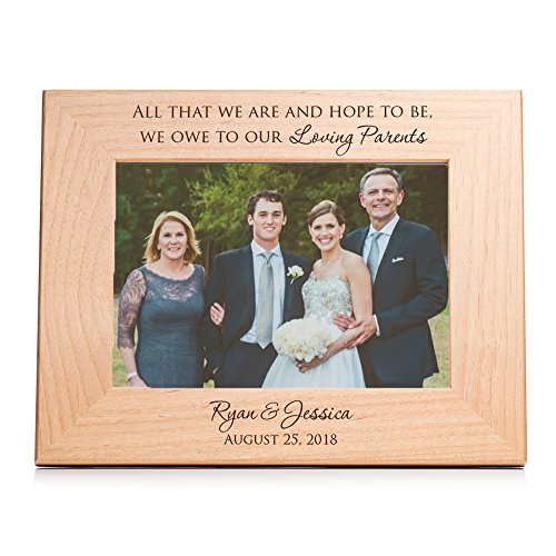 Lifetime Creations Personalized Parents of The Bride & Groom Picture Frame, 5