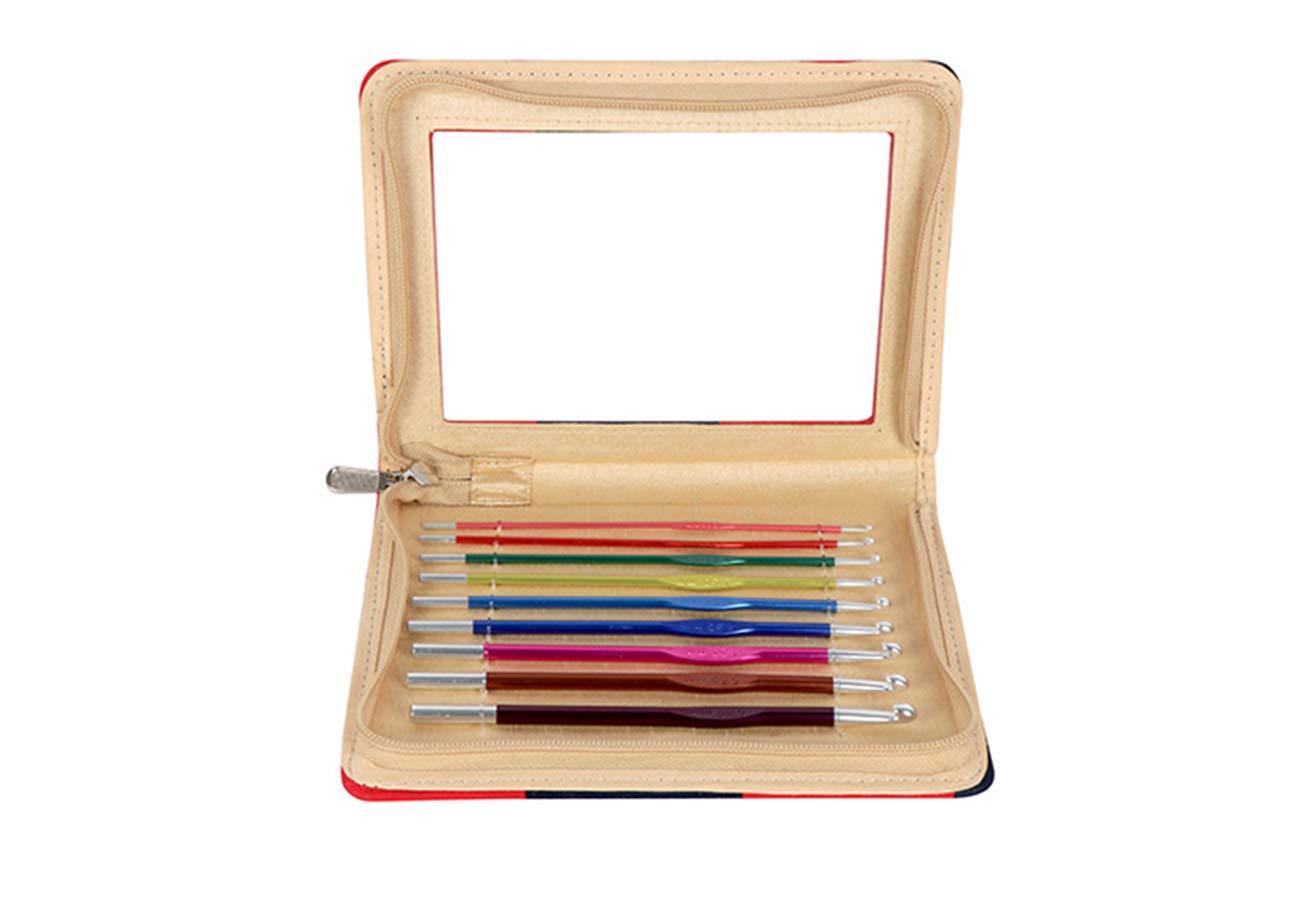 Knitpro Zing 15cm Multi-Coloured Aluminium 2mm-6mm Handle Crochet Hooks Knitting Knit Needles Weave Yarn Set 47480