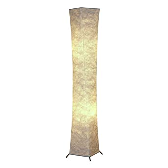 Nice 1life Modern Asian Design 52u0026quot; Standing Floor Lamp Lanterns With Fabric  Lampshade U0026 2 Bulbs