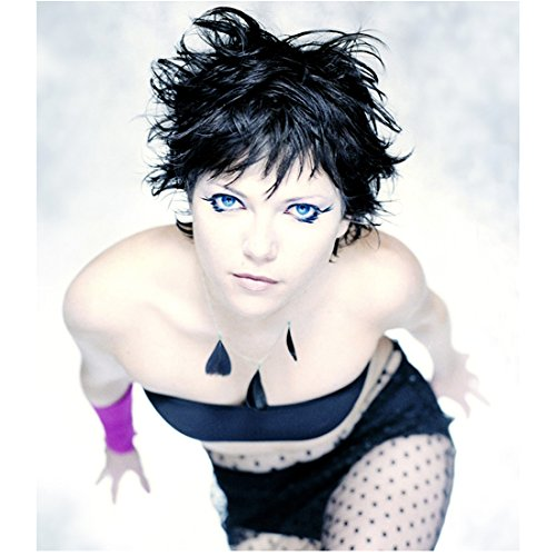 The Dead Zone 8 inch x 10 inch PHOTOGRAPH Nicole de Boer in Cat Eye-liner Fishnet Body Suit Black Tube Top and Black Short Shorts Mid Promo D