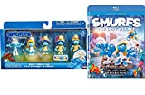 jack 3d grape - The Smurfs Exclusive Collectors Set 5-Pack Mini Figures & The Lost Village Blu Ray Animated Movie with Special Features