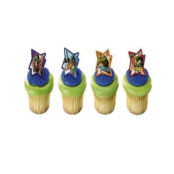 Amazon.com: TEENAGE Mutant NINJA TURTLES (12) Cake CUPCAKE ...