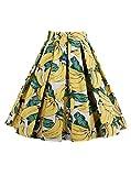 Geek Lighting Women Princess Style Skirt Pleated Skirt Dress A-Line Dress (Medium,Flora-7)