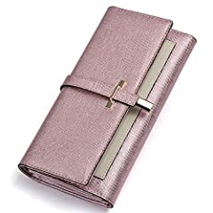 Key Features  -Item Type: Women Casual Fashion Wallet  -Item Model Number: KW3161041H  -Outer Material: Split Leather  -Lining Material: Fabric + Synthetic Leather  -Opening Closure: Buckle  -Optional Colors: Black & Rose Red & Cream...