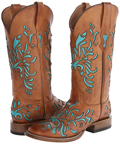 Women's Underlay Saddle Inch 13 Boot Stetson Brown Burnished Riding AxdqqB