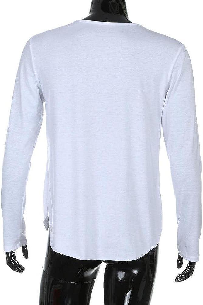 Camisetas Slim Fit Hombre, Blusas Hombre, Camiseta de Manga Larga ...