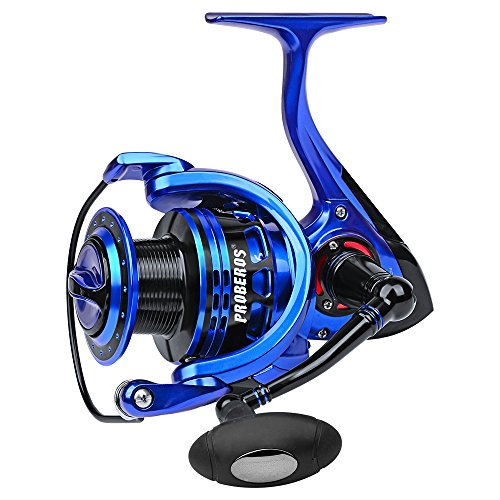 Spinning Reel Lightweight Smooth Fishing Reel 9+1BB Aluminum Left/Right Metal Handle Non-gap 5.2:1 Fishing Wheel (ZE5000)