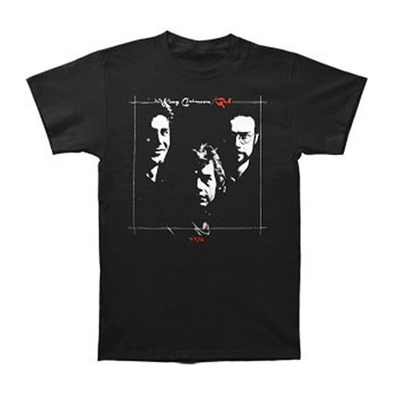 King Crimson Men's Red T-shirt Black