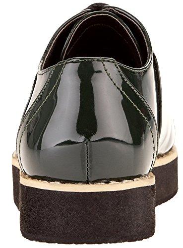 oodji Collection Mujer Zapatos Tipo Oxford de Piel Sintética Verde (6900N)