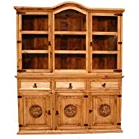 Two Piece China Cabinet with Stars-Medium