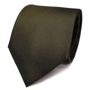 Diseñador corbata de seda de raso - verde oliv verde botella ...