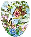 Toilet Tattoos TT-LS02-O Hummingbirds Design, Elongated