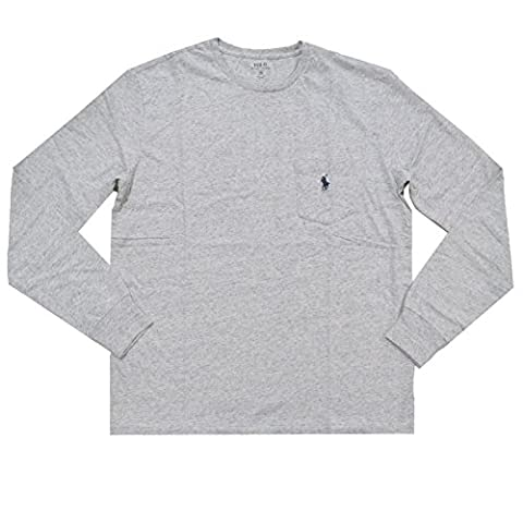 Polo Ralph Lauren Mens Pocket T Shirt Long Sleeve (XX-Large, Lawrence Gray)