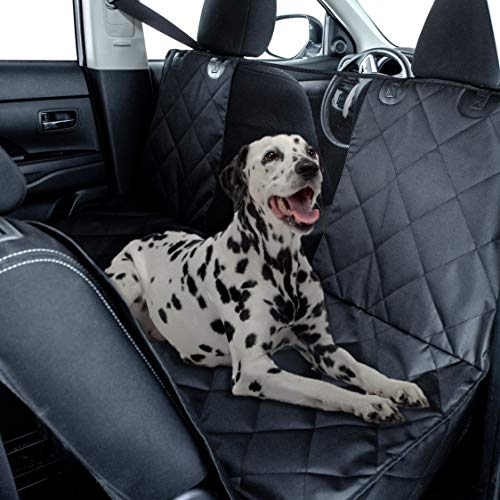 Dog Car Seat Cover Hammock Style and Cargo Liner for STANDARD SIZE Cars and SUVs .The Original Design You Can See Your Pet & Your Pet Sees You with The Clearview Window-Keeps Your Pet Calm (Regular)