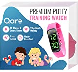 Premium Potty Training Watch - Only Watch with Multiple Alarms (16) to Fit Your Schedule & Hassle Free Smart Timer - Water Resistant - Both Vibration & Music - Kids Lock - Touchscreen- Easy Use (Pink)