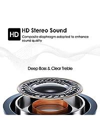 Auriculares estéreo Bluetooth 5.0 con micrófono dual, sonido de graves más enriquecido, auriculares inalámbricos JellyBlue a prueba de sudor, auriculares inteligentes con micrófono, diseño compacto para deporte, tiempo de reproducción de 18H, caja de rega