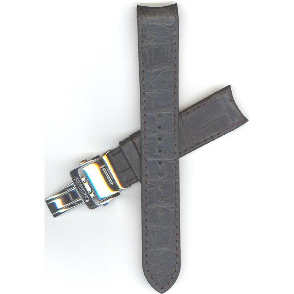 Seiko 21mm Black Leather Strap SPB005