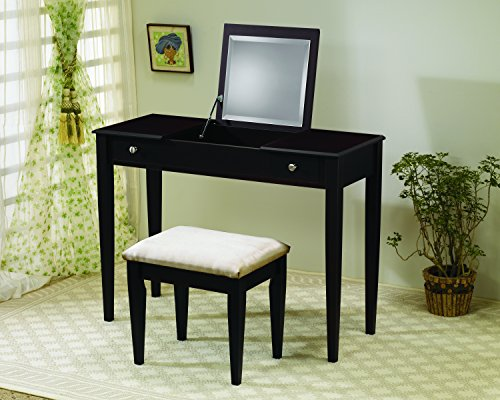 Coaster 300080 Flip-Top Vanity Set, Cappuccino by Coaster Home Furnishings