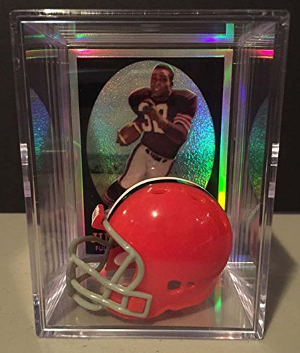 Cleveland Browns NFL Helmet Shadowbox w/ Jim Brown card Riddell