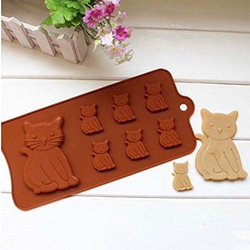 Baking & Pastry Tools - Cat Shape Chocolate Mold Silicone Cake Decorating Christmas Party Molde De Silicona Para - Cat Mouse Cat Cat Ball Toy Pet Cat Toy ...
