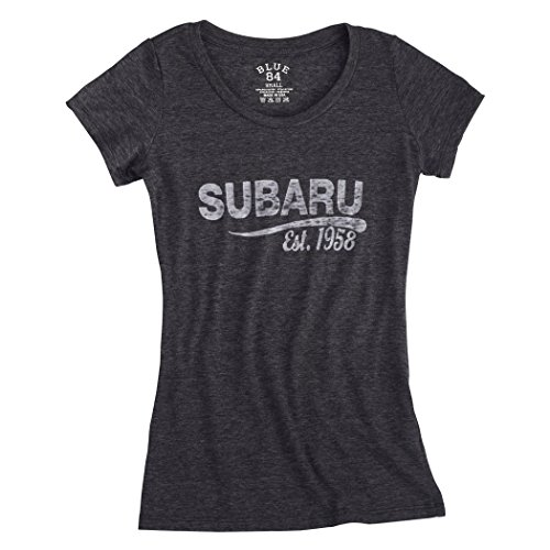 Genuine Subaru Women's Ladies Charcoal Vintage Tee Shirt - Size Small