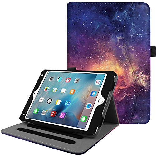 Fintie iPad Mini 4 Case [Corner Protection] - [Multi-Angle Viewing] Folio Smart Stand Protective Cover with Pocket, Supports Auto Wake/Sleep for Apple iPad Mini 4 (2015 Release), Galaxy (Ipad Mini 2 Ipad Mini 4 Comparison)