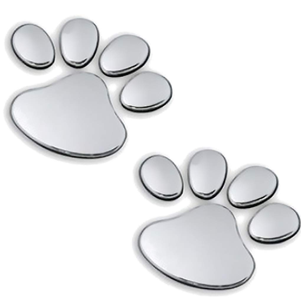 Beaums Unique Bear Paw Pet Animal Foot Prints Emblem Car Truck Decorative 3D Stickers Decal Car Sticker