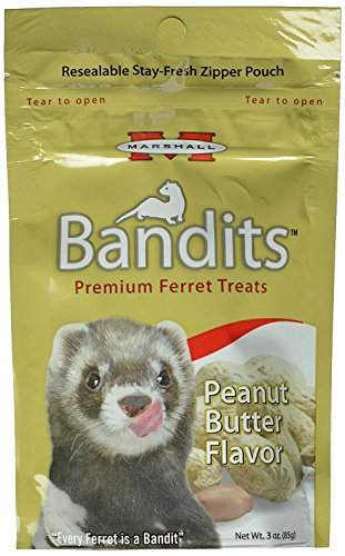 Bandits Premium Ferret Treat, Peanut Butter Flavor by Marshall, 3 oz (85 g)