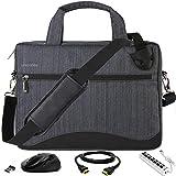 Gray Anti-Theft 17 17.3 inch Laptop Bag with USB Hub, Mouse, HDMI Cable for Lenovo G70-70 G70-80, IdeaPad 110 300 320 330 L340 700 Y700 Y900, Legion Y920 Y730 Y740, ThinkPad P70 P71 P72 P73, Z70-80