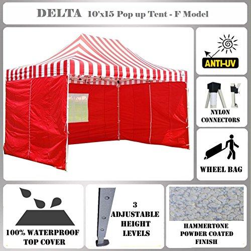 10'x15' Pop up Canopy Wedding Party Tent Gazebo EZ Red St...