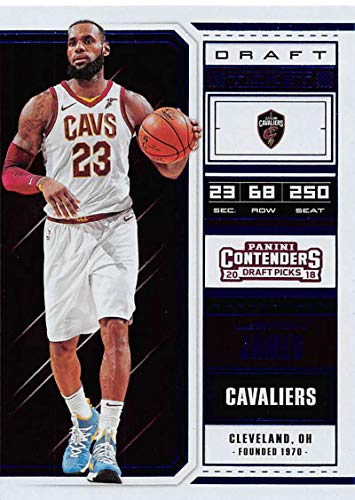 - 2018-19 Panini Contenders Draft Picks Draft Ticket Blue Foil Basketball Card #41 LeBron James NM-MT Cleveland Cavaliers Official NCAA Basketball Trad