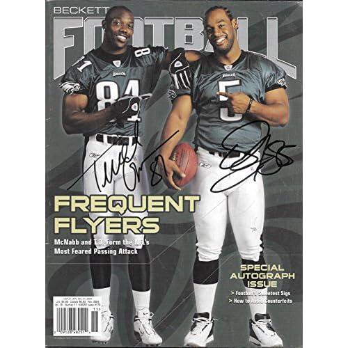 pretty nice 048fa d7baf Terrell Owens & Donovan McNab Eagles Autographed Signed ...