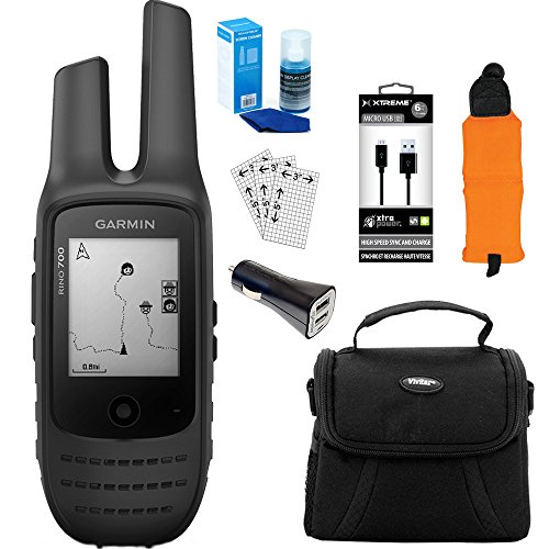Garmin Rino 700 GPS Navigator with 2-Way Radio (010-01958-20) Accessory Kit by Garmin