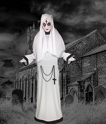 International Costumes - Sinister Sister Costume, Gothic Nun, Scary Mary, Halloween, Adult One Size to 6'