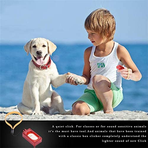 deYukiko Mini Rushed Ultraschall Hund Haustier Clicker Training Trainer Heimtierbedarf