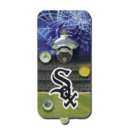 Team Sports America Chicago White Sox MLB Clink n Drink Magnetic Bottle Opener ()